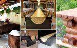 Стол из бревна — надежная вековая мебель для сада