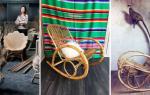 Плетеное кресло-качалка из ротанга: все нюансы изготовления