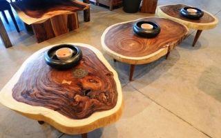 Стол из спилов дерева своими руками, что может быть проще