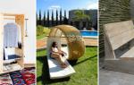 Садовая мебель своими руками: удачные самоделки