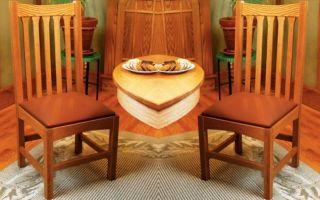 Изготовление традиционного дубового стула своими руками