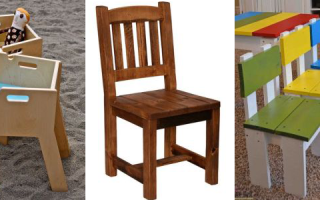 Детский стульчик своими руками: чертежи, размеры, схемы