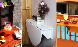 Откидной стол своими руками для маленькой или узкой кухни