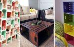 Мебель из деревянных ящиков своими руками — фантазия безгранична