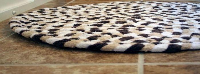 коврик из полотенец