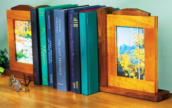 Книжные упоры с рамками для фотографий