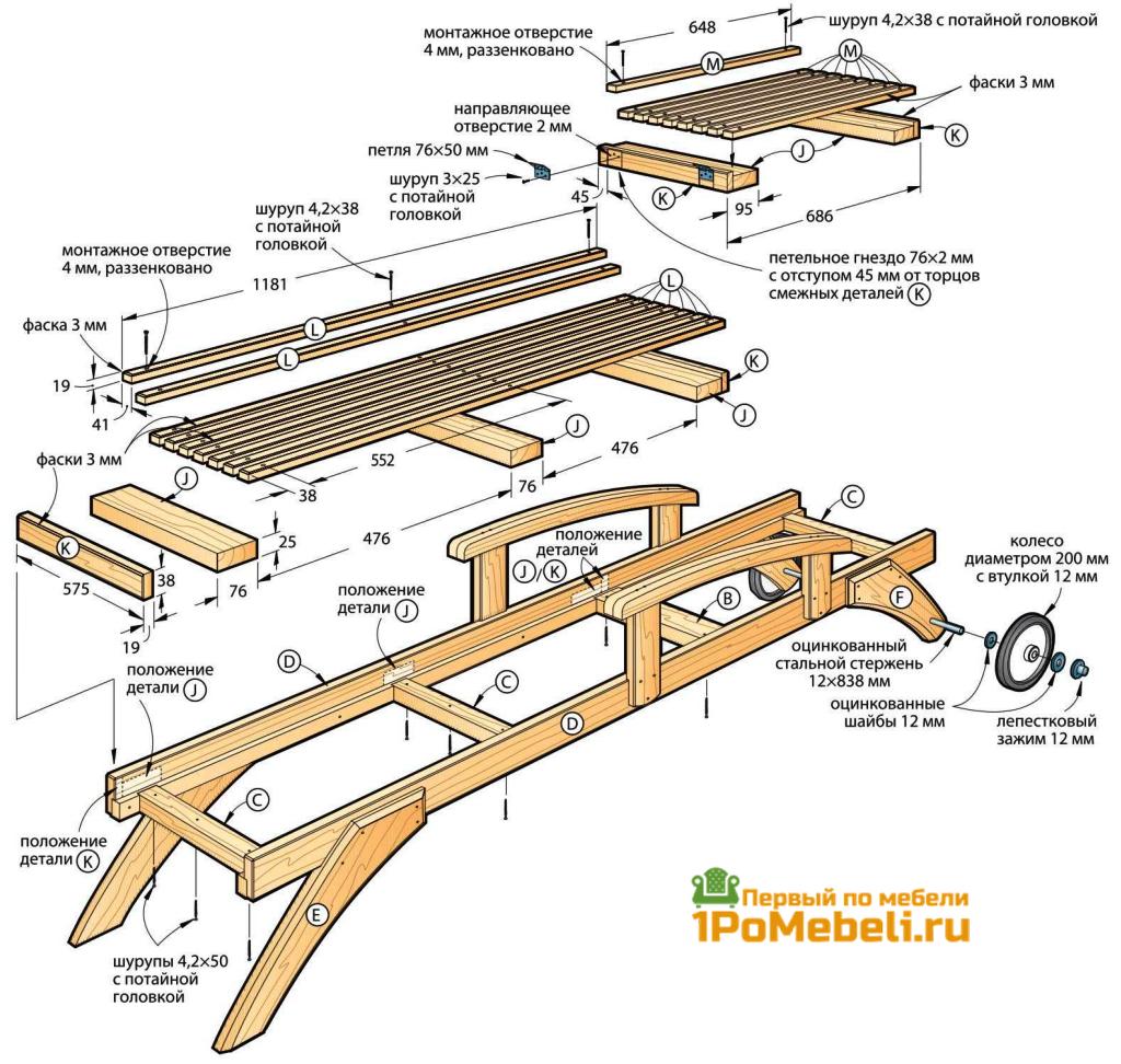 Платформы-решетки сиденья и спинки