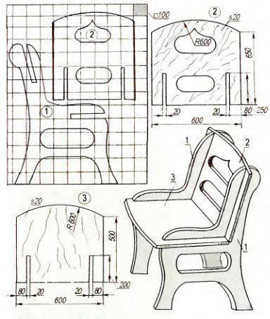 как сделать детский стульчик своими руками чертежи