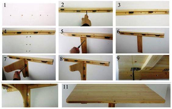 стол на стену складывающийся своими руками