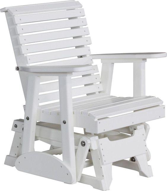 Кресло-качалка маятниковое белое