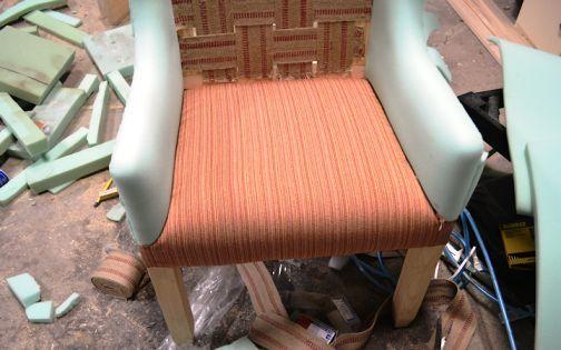 Обшивка сидушки кресла