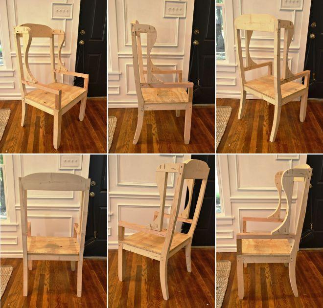 Готовый каркас кресла