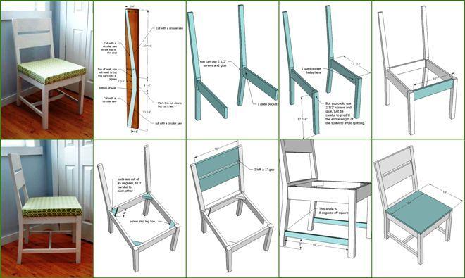 Инфографика. Как сделать стулья для кухни своими руками из досок