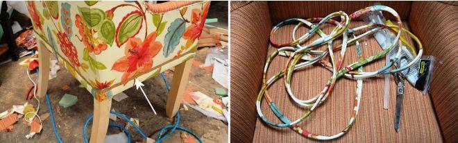 Обшивка тканью кресла своими руками