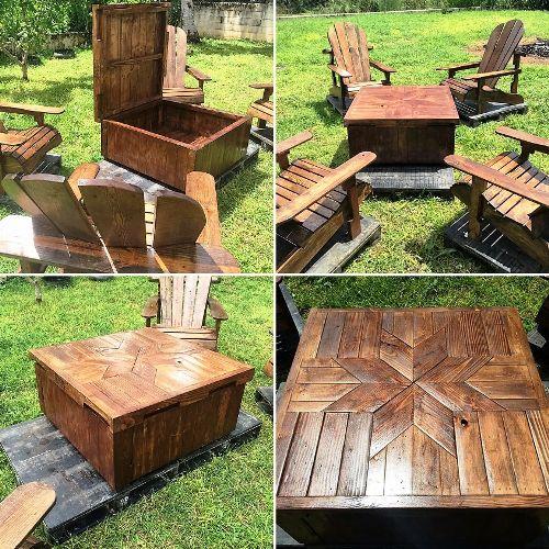 Мебель для дачи из паллет