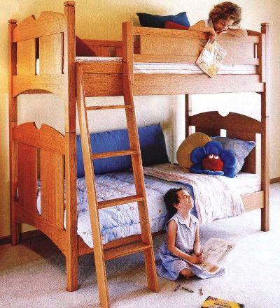 Общий вид двухярусной кровати