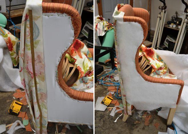 Обшивка боковин кресла