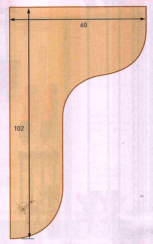 Шаблон кронштейна
