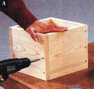 Соберите ящик, используя простое соединение встык
