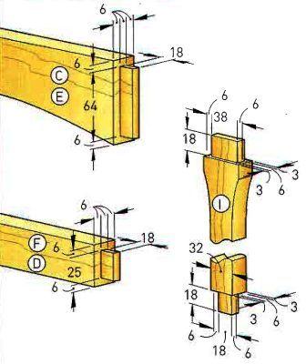 Изготовление шипов для стула