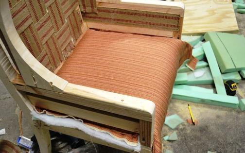 Ткань для сиденья кресла