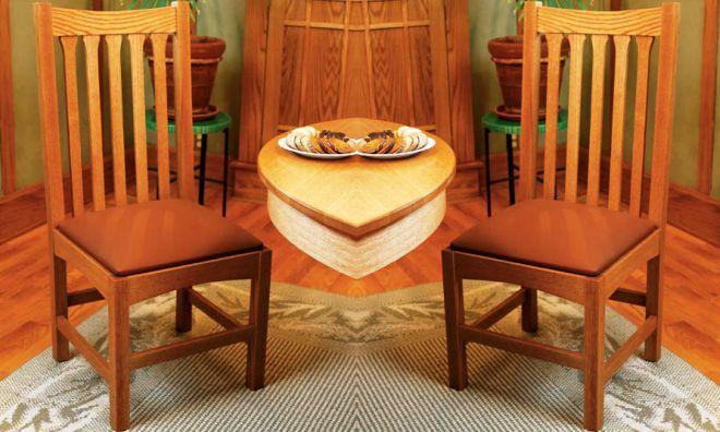Традиционный дубовый стул своими руками
