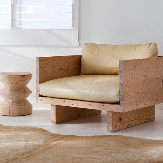 деревянное кресло диван