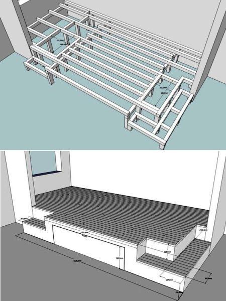 кровать подиум своими руками чертежи