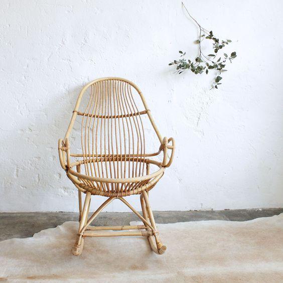 плетеное кресло качалка своими руками