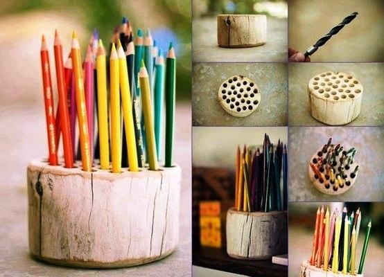 Подставка для карандашей своими руками из дерева