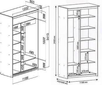 шкаф на балкон своими руками чертежи