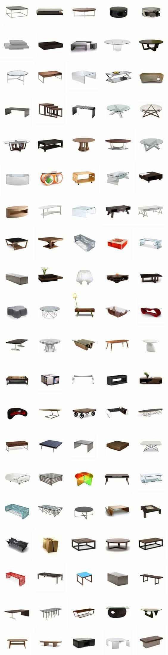 100 видов журнальных столиков