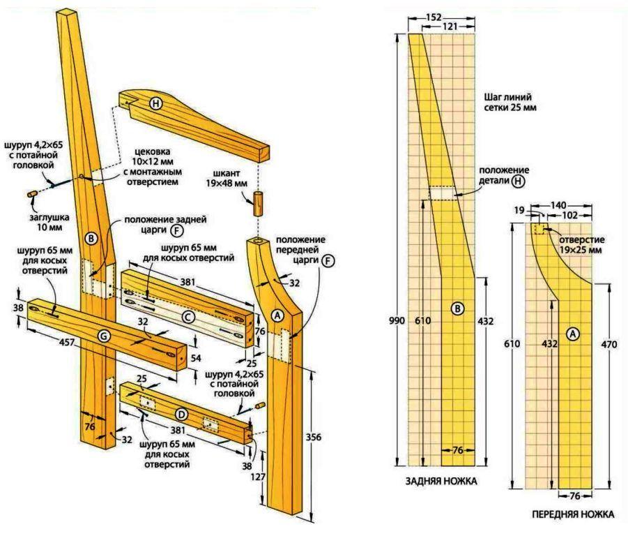 Боковины скамейки со спинкой