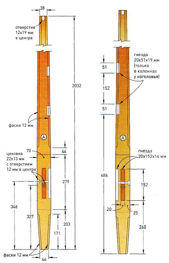 Чертеж колонны