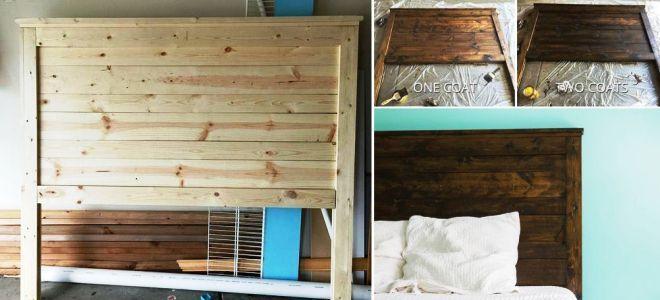 Изголовье кровати пошаговая инструкция