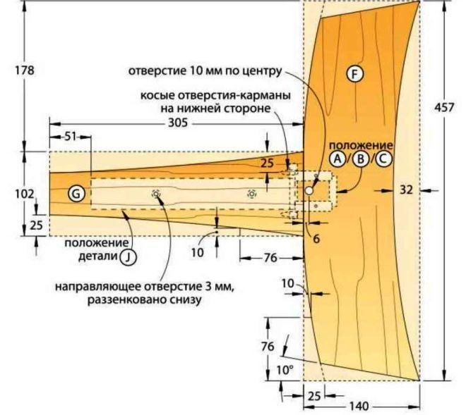 Схема соединения деталей основания