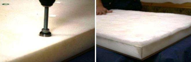 Сверление отверстий и укладка сентипона