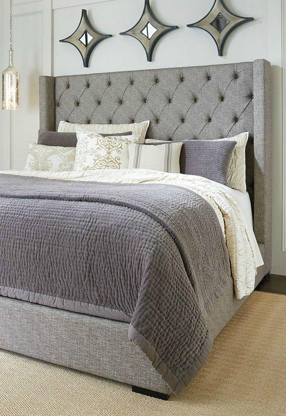Кровать с изголовьем каретной стяжки