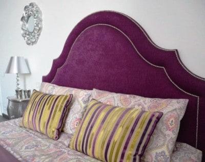 Фигруное изголовье кровати