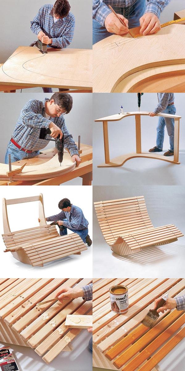как самому сделать кресло качалку из фанеры