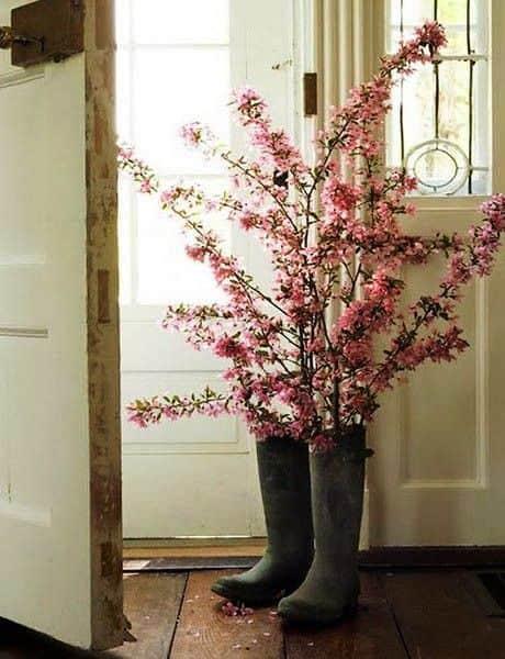 необычная подставка под цветы