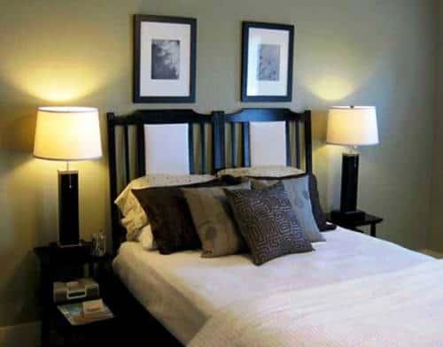 Изголовье двуспальной кровати