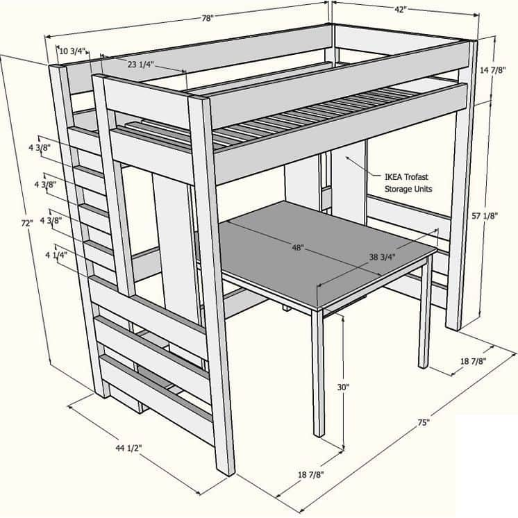 Кровать с рабочим местом
