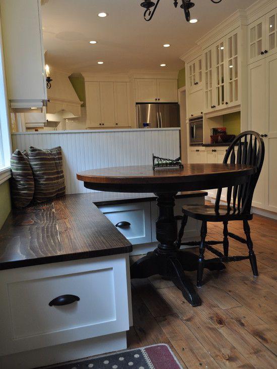 Кухонный уголок с ящиками