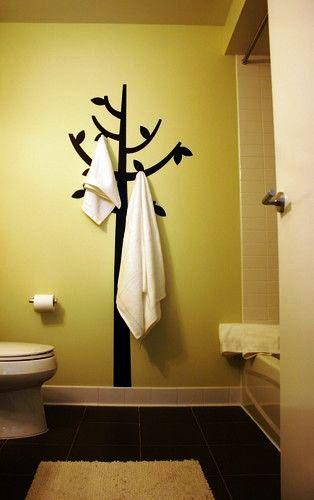 Полотенцедержатель в виде дерева