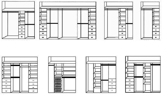 Схемы шкафа купе