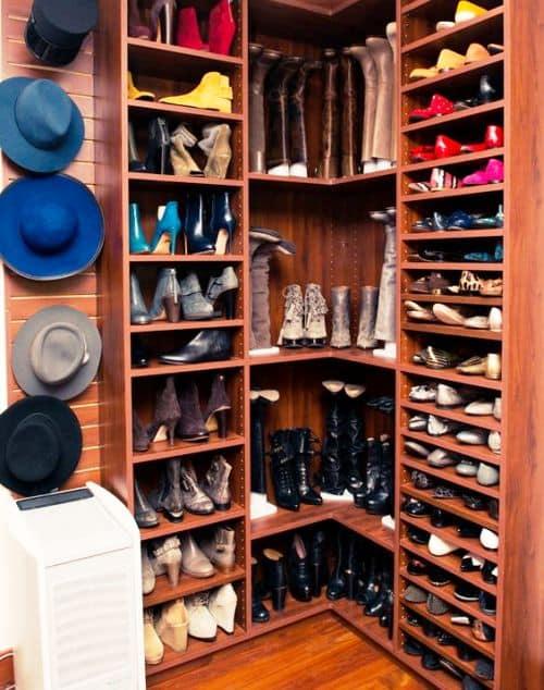 угловая полка для обуви