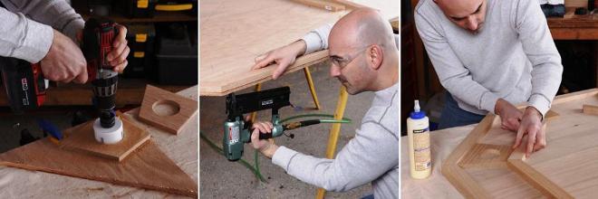 вырезаем и подготавливаем стол